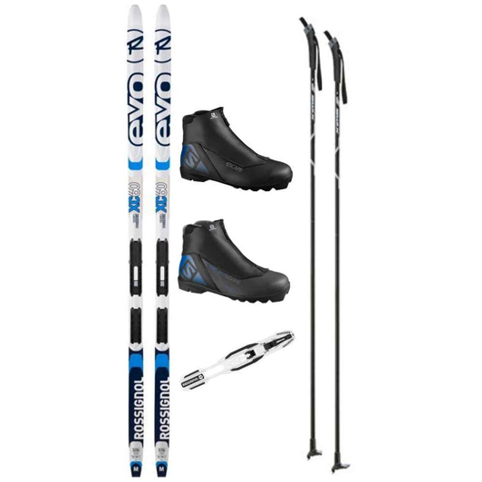 Rossignol Evo XC 60 Tour Cross Country Ski Package