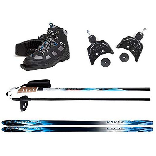 Whitewoods 75mm 3Pin Cross Country Ski Package