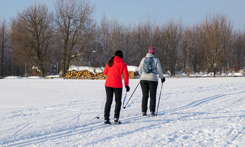 Cross Country Skiing Flat