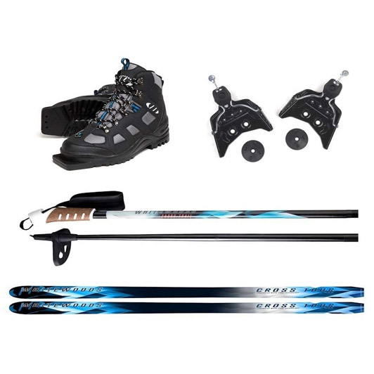Whitewood 75mm 3Pin Cross Country Ski Package