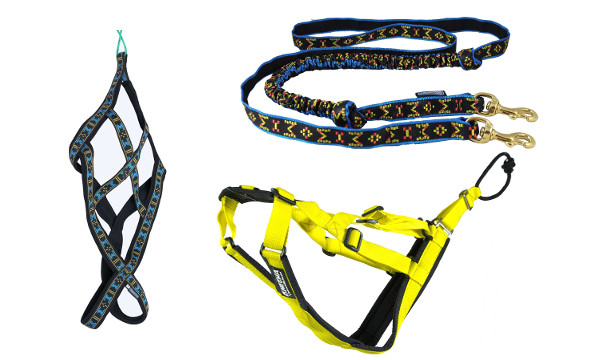 skijoring dog harness feat