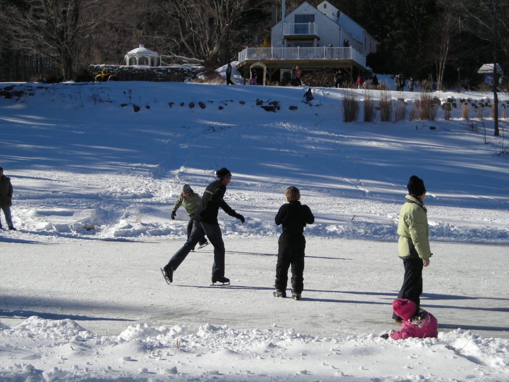 Ice Skating on the pond