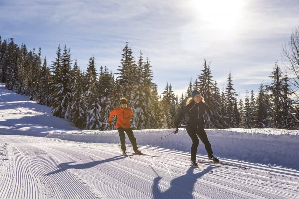 Cross-Country Skiers at Whistler