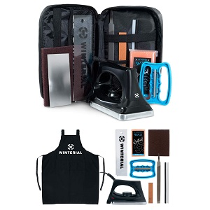 Winterial Snowboard and Ski Tuning Kit, with Iron, All-Temp Snowboard Wax, Angled Edge Tuner File, PTEX Rods and Wax Apron