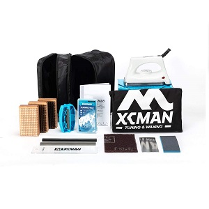 XCMAN Complete Ski Snowboard Tuning and Waxing Kit with Waxing Iron,Universal Wax,Edge Tuner,Brush,Wax Scraper,Ptex